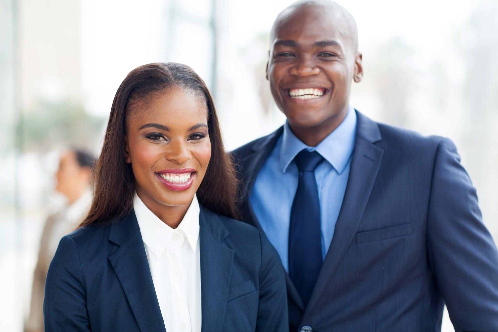 African business team portrait