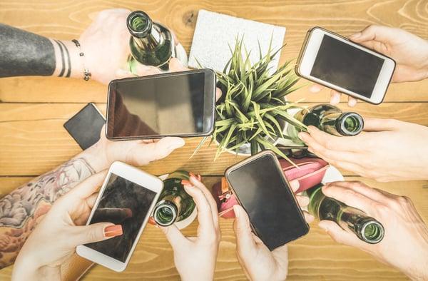 texting on smartphones