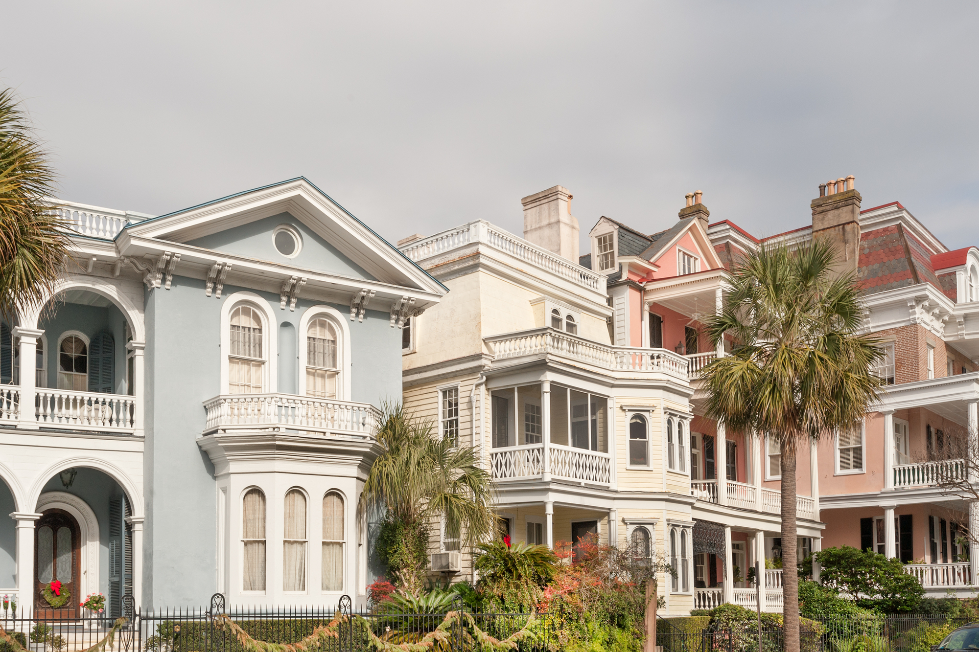 Charleston colonial houses
