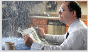 You don't want this rained-on person to be your renters
