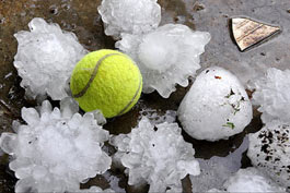 Giant hail the size of a tennis ball