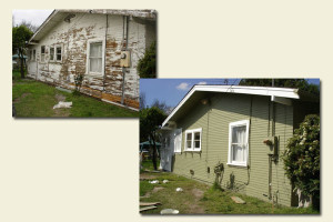 before and after of house repainted
