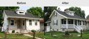 before and after property maintenance