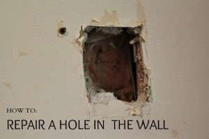repairing a hole in a wall