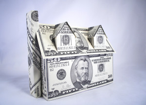 house made of bills