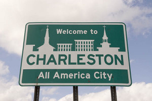 Welcome Sign Charleston SC USA