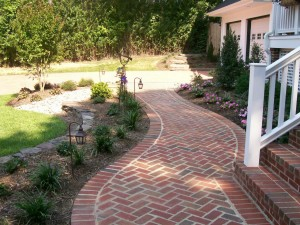 Well-thought-out hardscaping serves to accent the greenery.