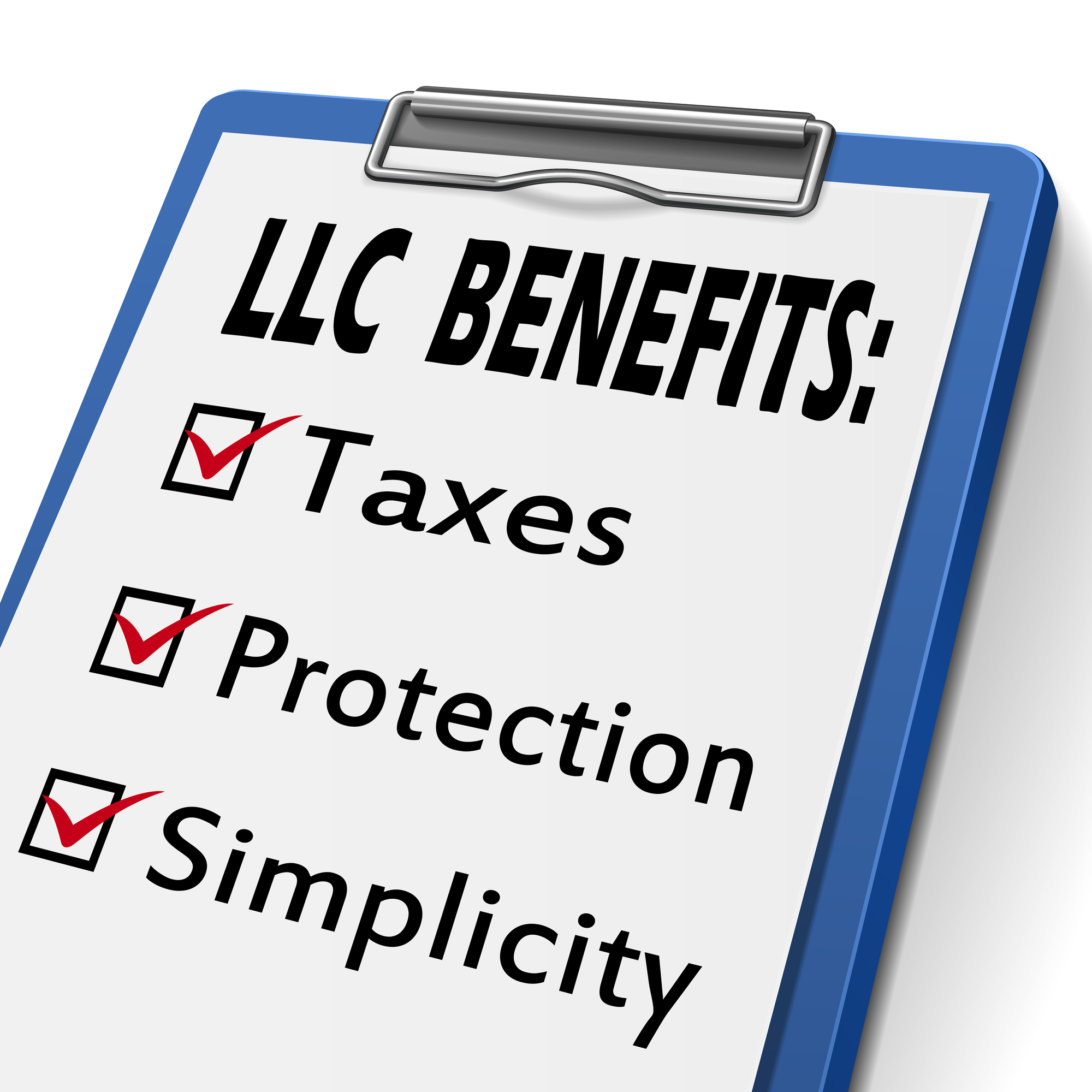 LLC benefits clipboard