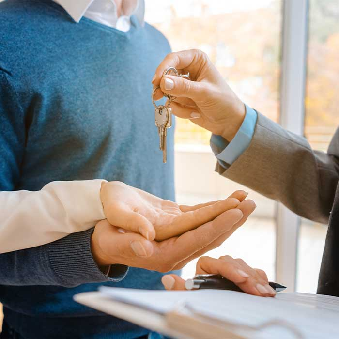 Turning over keys to tenant, tenant placement services